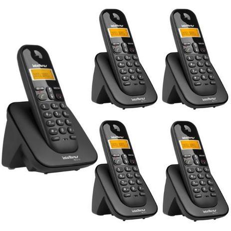 Imagem de Telefone Sem Fio Intelbras TS 3110 Preto 1,9 GHz DECT 6.0 + 4 Ramal Sem Fio Intelbras TS 3111 Preto 1,9 GHz DECT 6.0
