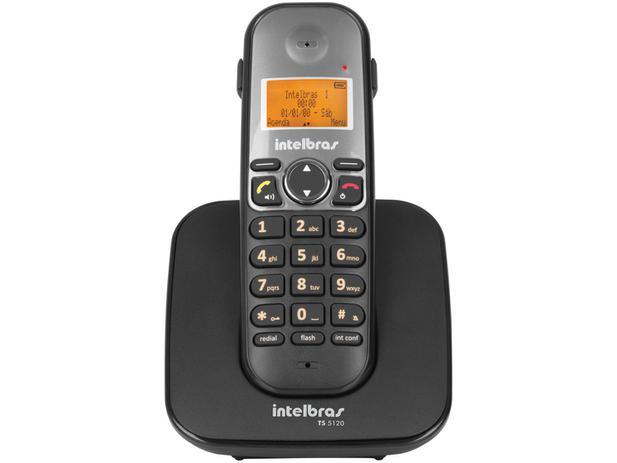 684ea9af5 Telefone Sem Fio Intelbras TS 5120 - Identificador de Chamada Viva Voz  Conferência