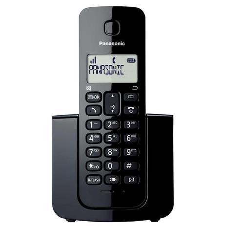 Imagem de Telefone sem Fio Panasonic KX-TGB110LBB, Identificador de Chamadas - Preto