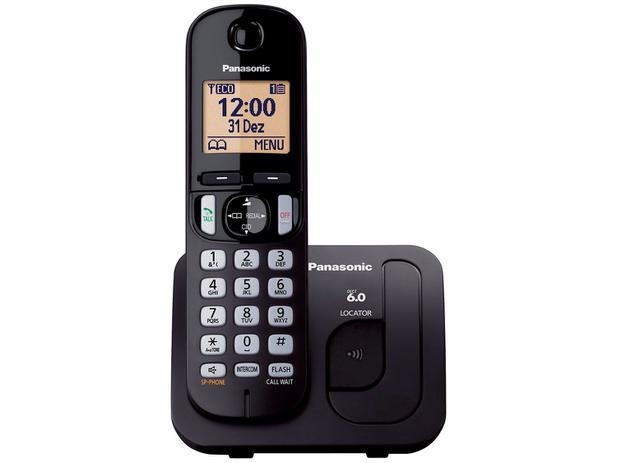 d50b76c26 Telefone Sem Fio Panasonic KX-TGC210LBB - Identificador de Chamada Viva Voz  Preto
