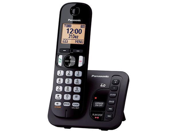 Imagem de Telefone Sem Fio Panasonic KX-TGC220LBB Com Secretária Eletrônica