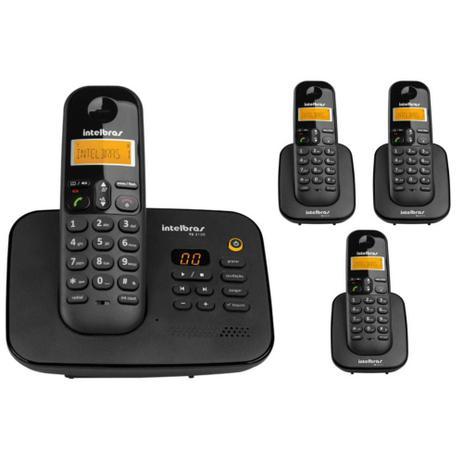 Imagem de Telefone Sem Fio TS 3130 Com Secretaria Eletrônica + 3 Ramal Sem Fio TS 3111 Intelbras 1,9 Ghz Dect 6.0