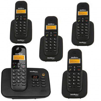Imagem de Telefone Sem Fio TS 3130 Com Secretaria Eletrônica + 4 Ramal Sem Fio TS 3111 Intelbras 1,9 Ghz Dect 6.0
