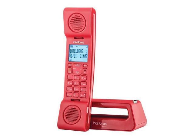 e8a5d4059 Telefones sem Fio Intelbras ICON 4128528 TS8520 Vermelho com  Identific.chamada e Viva VOZ