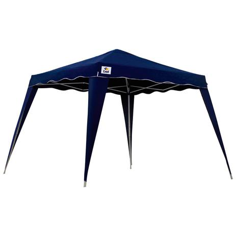 Tenda Gazebo 2,4X2,4 Metros Sanfonada Articulada Dobrável Barraca Camping  Praia Azul Com Bolsa - Bel fix 7efe302d33