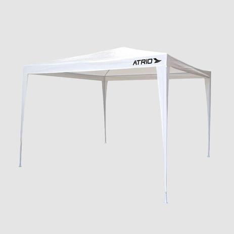Imagem de Tenda gazebo 3,0x3,0x2,45m aço e polietileno branco atrio