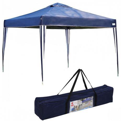 Tenda Gazebo Dobravel Articulada X-flex 3x3 M Base e Topo Azul Mor ... 6c225d8340