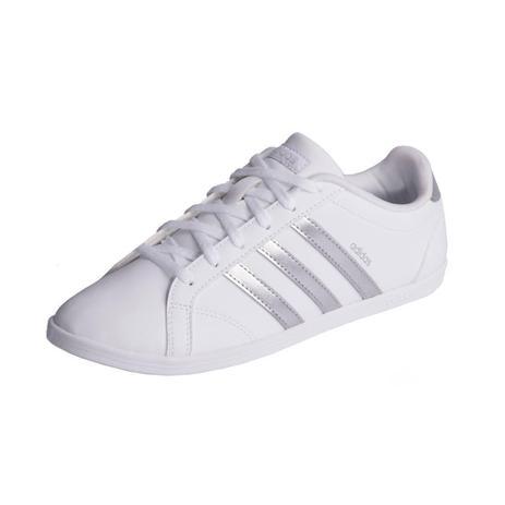 43867c401 Tênis Adidas Casual Vs Coneo Qt Branco/Prata - Tênis Feminino ...