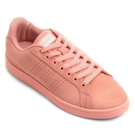 f8d0a2e18a6 Tênis Adidas CF Advantage Clean Feminino - Rosa - Tênis - Magazine Luiza