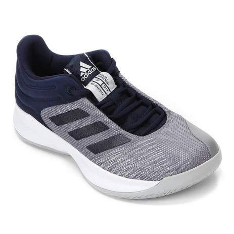 e70ddbda09e Tênis Adidas Pro Spark 2018 Low Masculino - Cinza Azul - Tênis ...