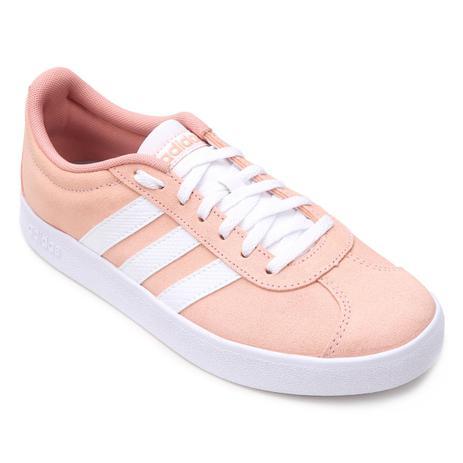 7c0afb23b Tênis Adidas VL Court 2.0 Feminino - Rosa Claro - Tênis Feminino ...
