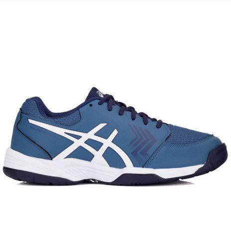 6c1699222 Tênis Asics Gel Dedicate 5 A Azul e Branco - Tênis para Esportes ...