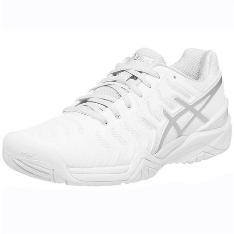 550979dd5b Tenis Asics Gel Resolution 7 Feminino Branco e Prata - Tênis para ...