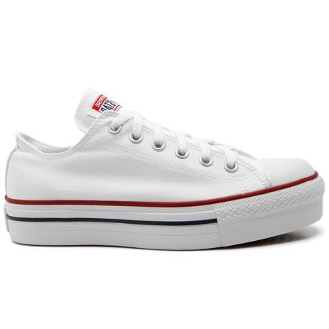 Tênis Converse All Star Chuck Taylor Flatform Lift Branco