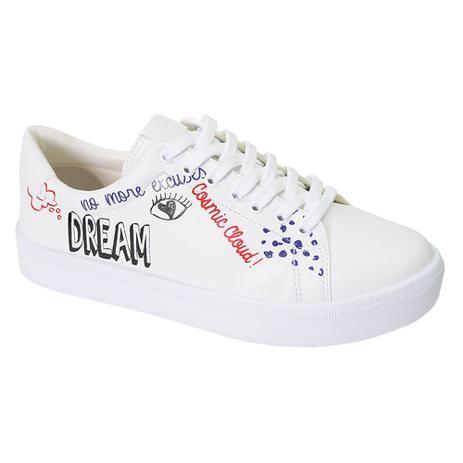 b162d7358 Tênis Feminino Dream - Sua Cia Branco - Lia line - Tênis Feminino ...