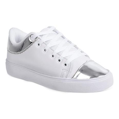 e3125bb8385 Tenis feminino luma ventura 1044 branco prata white - Tênis ...