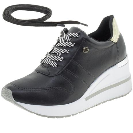 f391927a38a Tênis Feminino Sneakers Via Marte - 193322 PRETO PRETO - Tênis para ...