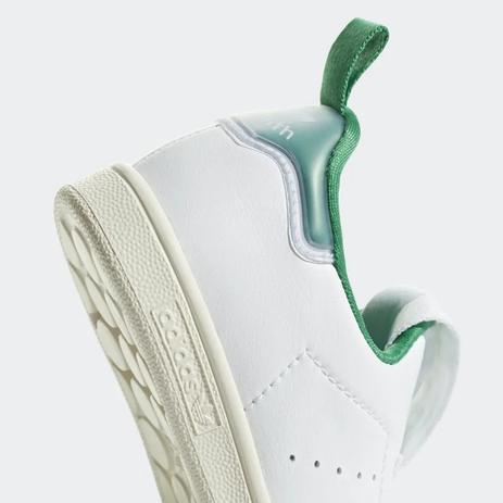 Tênis infantil stan smith 360 unissex branco e verde aq1112 Adidas