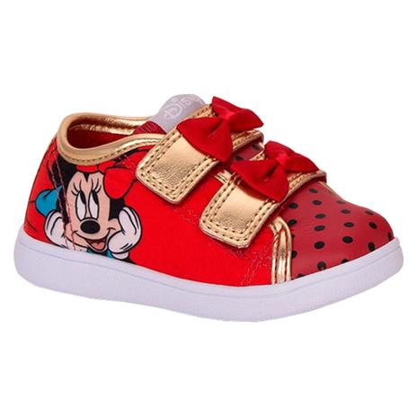 Tênis Infantil Velcro Minnie Vermelho - Diversão - Sugar shoes ... c42ad0d93d0e9