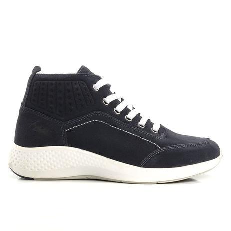 d4aabaa17 Tênis Jhon Boots Yeezy Sneakers Couro - Azul Marinho - Tênis de ...