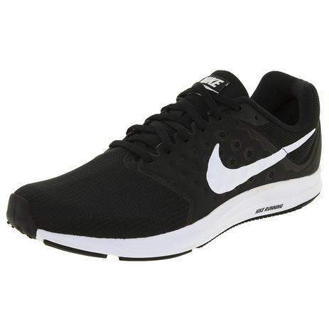 Tênis Masculino Downshifter 7 Nike 852459 Pretobranco Pretobranco