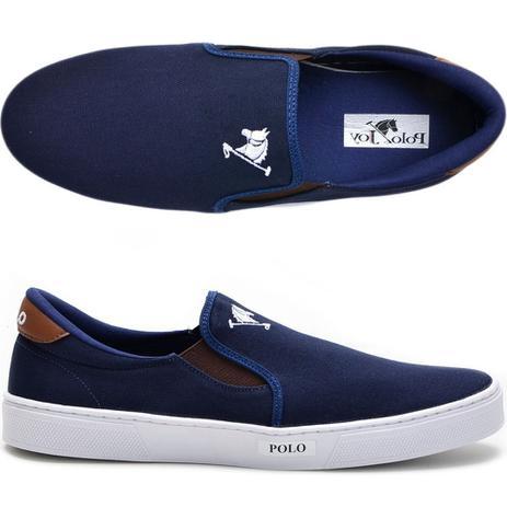 c22c086337 Tenis Masculino Sapato Polo Joy Iate Com Elástico Azul - Tênis ...