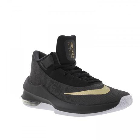 6d85e28cd88 Tênis Nike Air Max Infuriate 2 Mid - Cinza Escuro e Ouro - Masculino ...