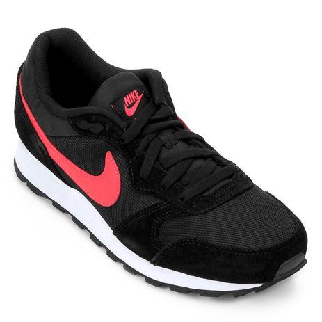 fb65e2328 Tênis Nike Md Runner 2 Masculino - Preto e Vermelho - Tênis de ...