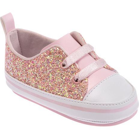 12200c0f58 Tênis para Bebês - Feminino - Glitter Rosa - Pimpolho - Calçados ...