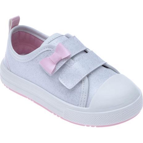de08530d796 Tênis para Bebês - Feminino - Star Kids - Com Laço Branco - Pimpolho ...