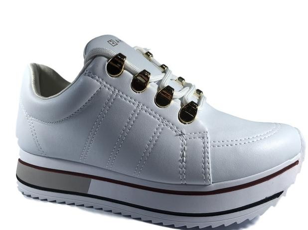 7c5f57cd17f Tênis Ramarim Feminino Branco Sneaker Tratorado 1971101 - Tênis ...
