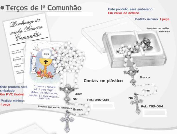 Imagem de TERÇOS DE 1ª (PRIMEIRA) COMUNHÃO