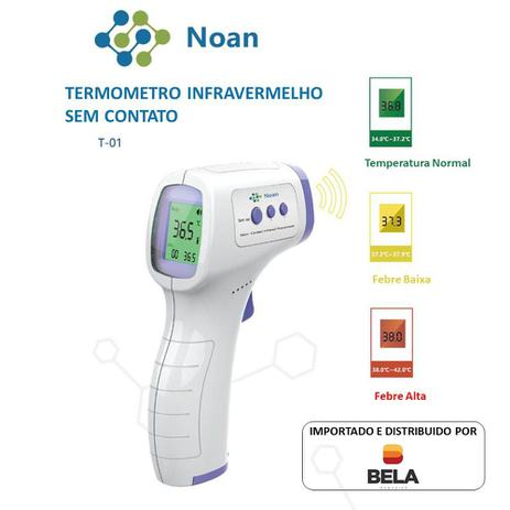 Imagem de Termômetro Digital de Testa Infravermelho LCD Portátil
