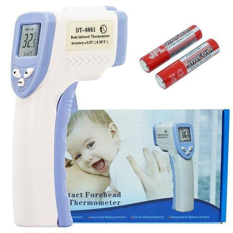 989ba3991 Termômetro Digital Infravermelho Corporal Febre Testa Infantil Bebe DT-8861  - Next trading