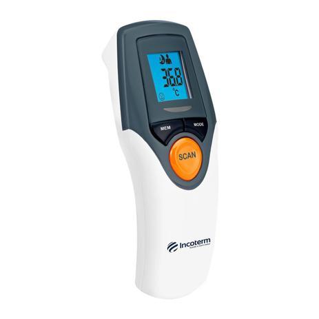 Imagem de Termômetro infravermelho sem contato testa Anvisa Incoterm