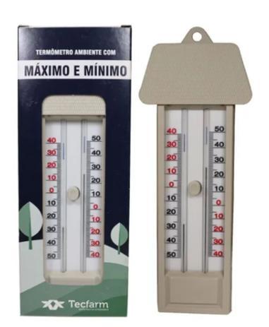 Imagem de Termômetro Máxima e Mínima Tipo Capela - Tecfarm -40ºC +50ºC
