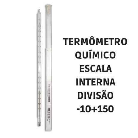 Imagem de Termômetro químico escala interna -10+150 5004 Incoterm