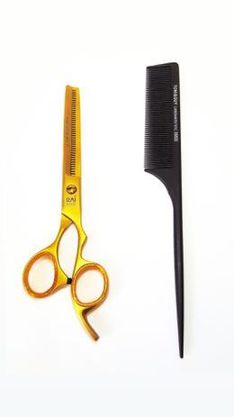 Imagem de Tesoura desbaste dentada profissional barbeiro cabeleireiro rai 7 polegadas
