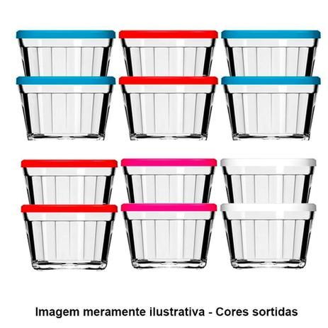 Imagem de Tigela de Vidro Americano 4210 150ml 12 Peças Cores Sortidas - Nadir
