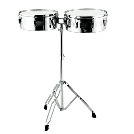 Imagem de Timbales 13 E 14 Polegadas Com Estante Ajustável X-Pro Drums