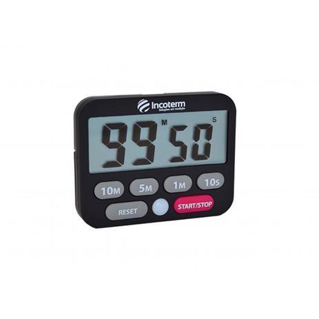 Imagem de Timer com cronometro digital visor grande e alarme visual e sonoro Incoterm
