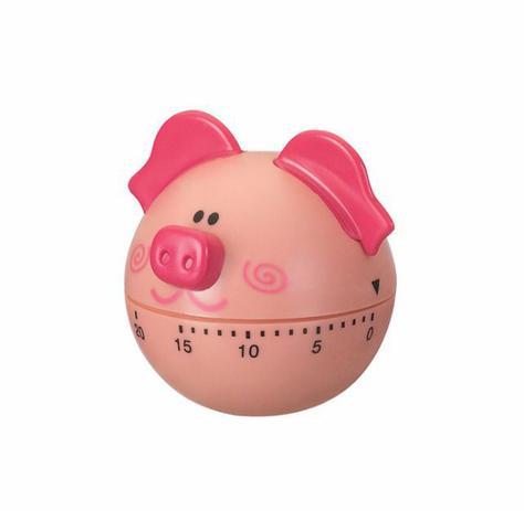 Imagem de Timer de Cozinha Temporizador Cronometro Porco Rosa