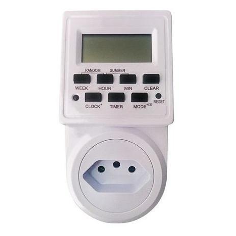 Imagem de Timer Temporizador Digital Tomada Energia Bivolt 2200w 10a