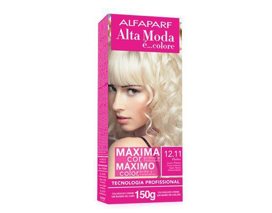 Imagem de Tinta alta moda alfaparf kit cor 12.11 platino