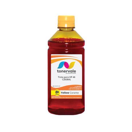 Imagem de Tinta Compatível para Recarga HP CZ638AL 46 Yellow - Impressoras HP 2529 4729 5738 Corante de 500ml