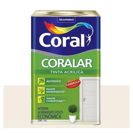 Imagem de Tinta Coral Coralar Econômica acrílica fosca branco 18L
