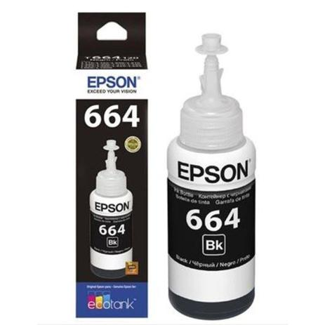 Imagem de Tinta Epson L380 T664 T664120 T-664 Black Original 70ML