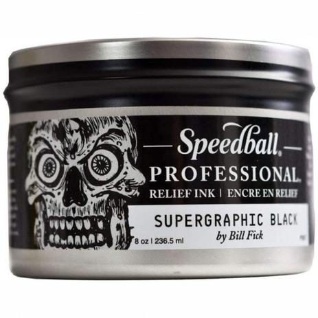 Imagem de Tinta Speedball Profissional para Xilogravura Relief Ink Black 236,5ml
