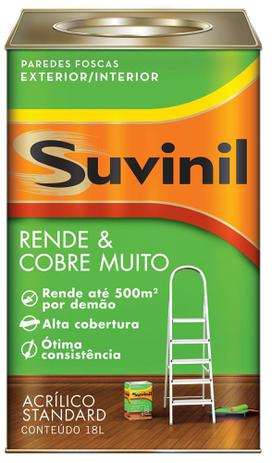Imagem de Tinta Suvinil Acrílico Rende e Cobre Muito Standard BRANCO 18L