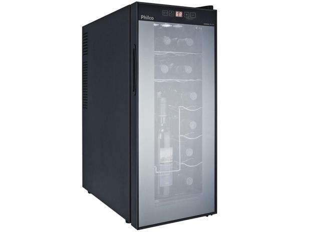 Adega Climatizada Philco 12 Garrafas PH 12E - Painel Touch Controle Digital de Temperatura - 220V